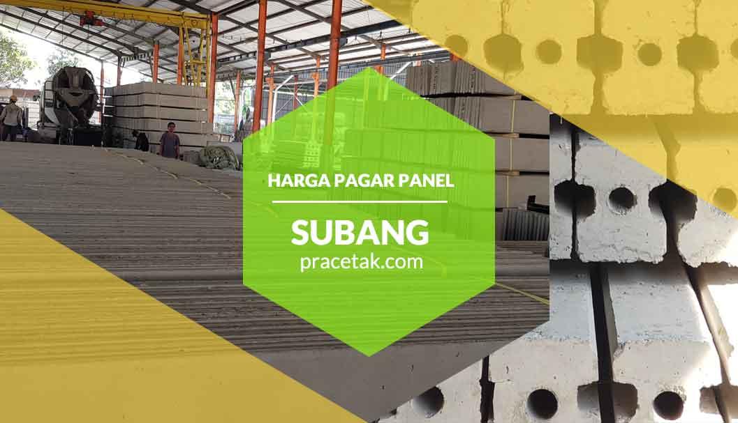 Harga Pagar Panel Beton Subang